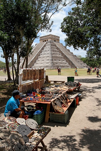 The great pyramid at Chichen Itza