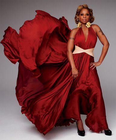 MJB - Regal in Red flowing in the wind.