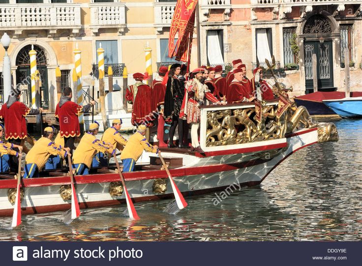 The State Boat Bucintoro At The Historical Regatta In Venice 2013 Stock Photo…