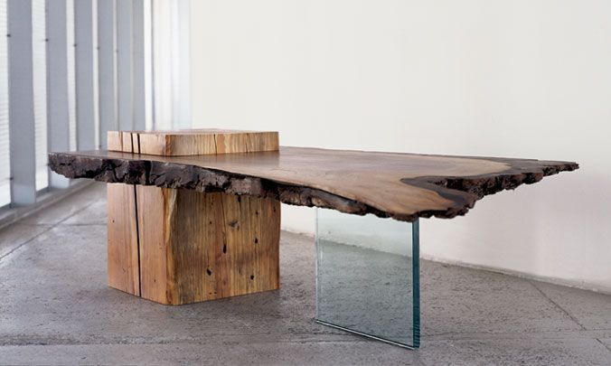 BLACK WALNUT LOW TABLE SIDE WITH EXTINCT OLD