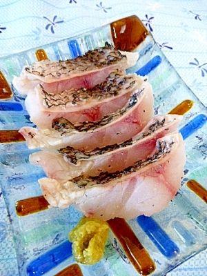 黒鯛レシピ・作り方の人気順 簡単料理の楽天レシピ 黒鯛(チヌ)の湯引き。