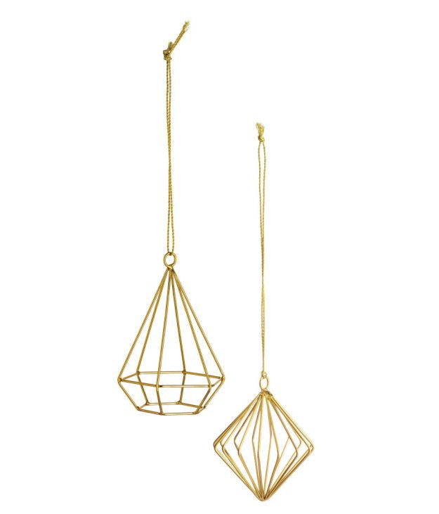 A pair of geometric ornaments that would class up the saddest Charlie Brown tree. | 26 Gifts That Only Look Expensive