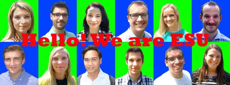 The people behind ESU Facebook border Logos, Games, People