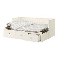 IKEA - HEMNES, Cama indiv/dupla c/3 gav/2 colchões, branco/Moshult firme, , Quatro funções: sofá, cama individual, cama de casal e solução de arrumação.O colchão de espuma flexível proporciona um bom apoio e conforto.