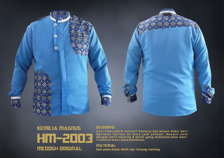 Kemeja batik warna biru dari The Optimus Series ini layak kamu punya - Kemeja Magnus HM-2003