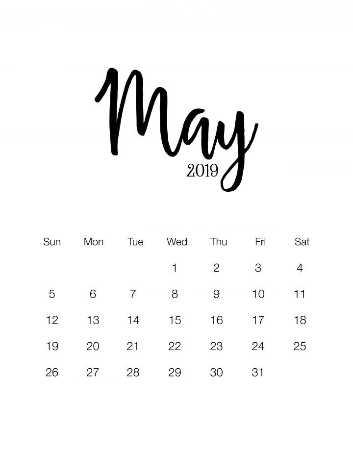 photo about Free Printable Due Date Calendar named Wonderful and Free of charge Printable 2019 Minimalistic Calendar