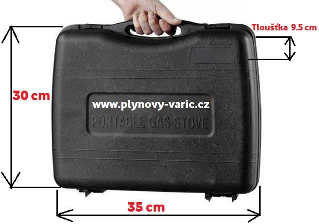 plynový vařič v kufru