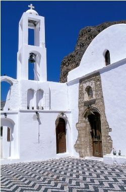 Visit Greece | #Tilos #Dodecanese #islands #Greece The Byzantine Monastery of Aghios Panteleimonas (15th century)