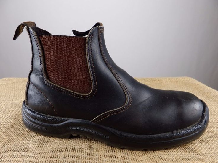BLUNDSTONE 500 Stout Brown Leather Shoe Ankle Boot Men AU 7 US 8 #Blundstone #AnkleBoots