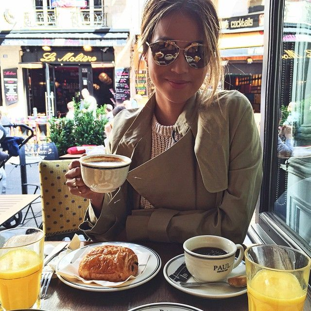 Sincerely, Jules: Morning latte in Paris! ☕️ / 5.18.15