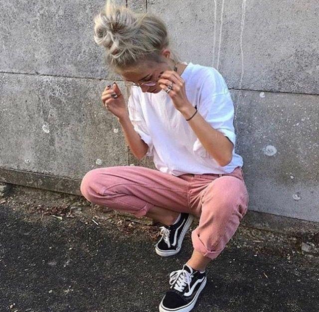 Vans Old Skool #girl #vans #rose #pastel #fashion #style