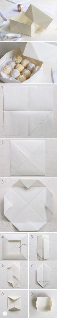 DIY Origami Pralinenschachtel, Verpackung für Geschenke aus der Küche