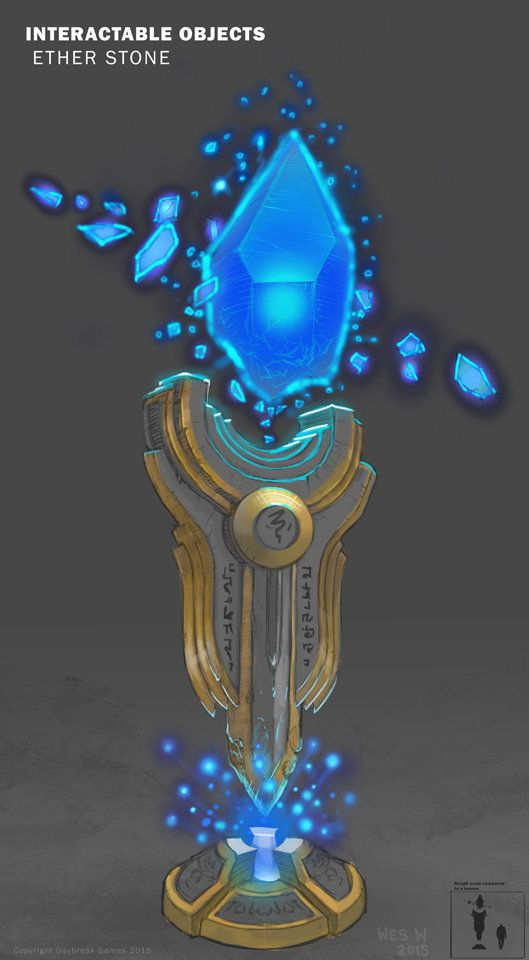 ArtStation - Object concept - Ether stone , Wes Wheeler