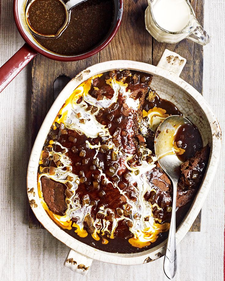 Debbie Major makes sticky toffee pudding even more indulgent by adding rich, dark ale and stem ginger – all you need now is cream.