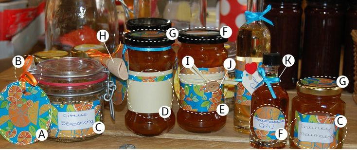 Take a look at our designs - copy them or make your own. There are so many ways to use the different elements and you can mix and match from the other collections. The different wraps can be cut down to size or stuck together to fit around bigger jars. The plain wraps with the signature design stripe can be written on or decorated.