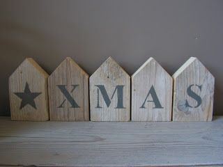 X-mas wooden houses