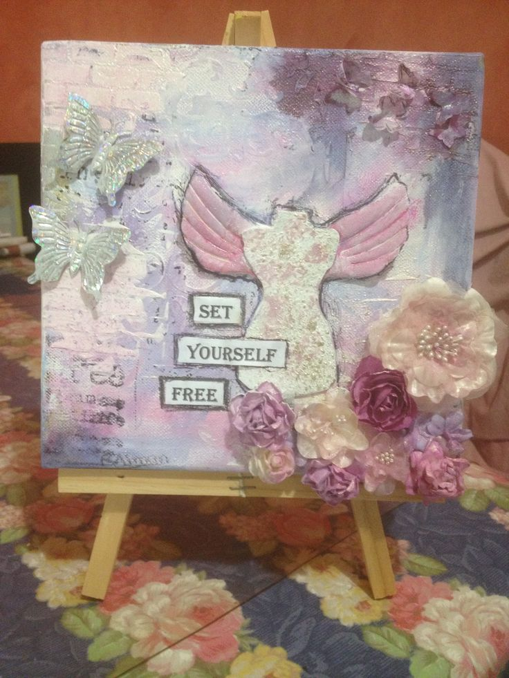 My first try at a Mixed Media Canvas...