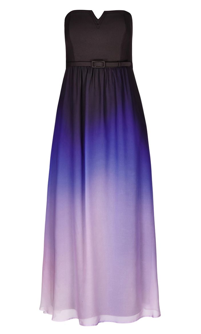 City Chic Ombre Lust Maxi Dress -
