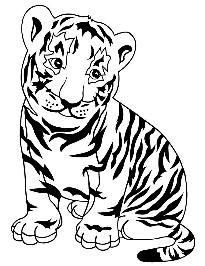 25 best coloring pages images on pinterest paisley for Coloring pages tiger cubs