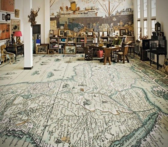 22 Unique Flooring Ideas For Any Room. And this floor will go in the library! (In my dreams...)