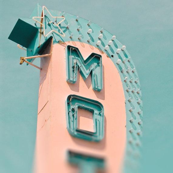 Vintage motel sign Jersey shore mad men retro neon sign on Etsy.