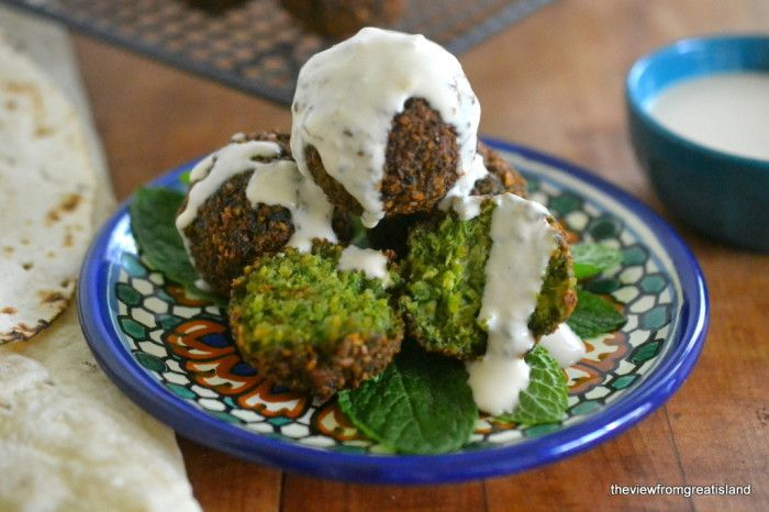 This is the best falafel recipe ever! It's filled with fresh herbs, and lightly fried to a deep mahogany brown