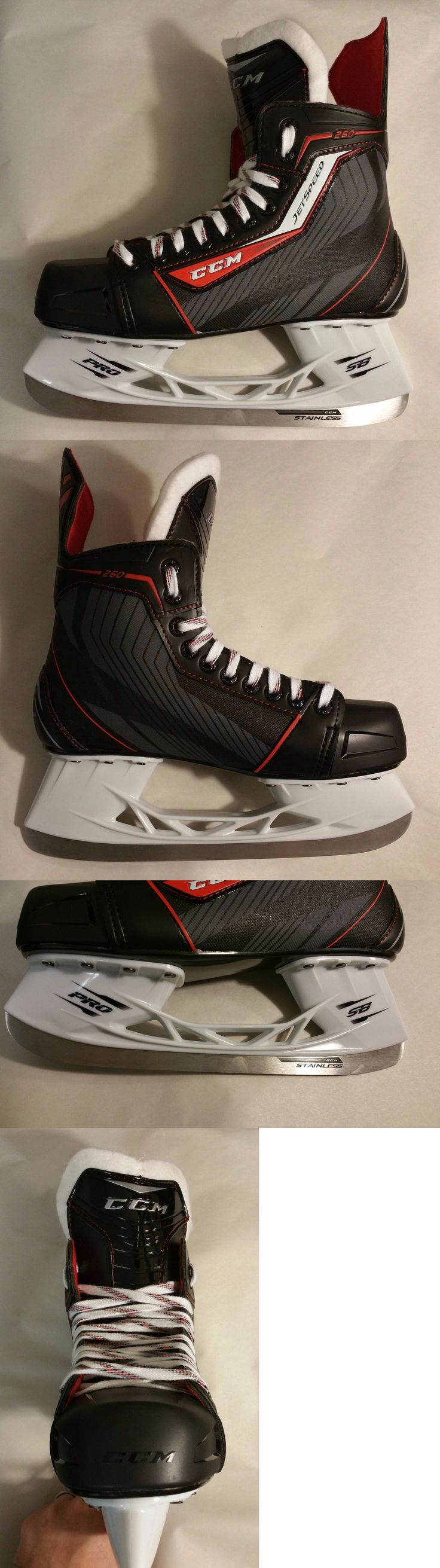 Ice Hockey-Youth 26342: Ccm Jetspeed 260 Ice Hockey Skate Junior Size 3 New In Box BUY IT NOW ONLY: $79.99
