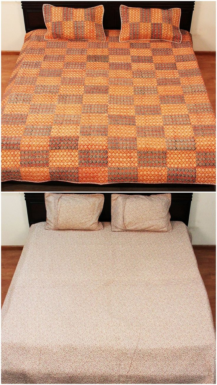 Comforter Reversible Cotton Bedspread Indian Patchwork Home Furnishing Twin Size Finely Hand Quilted Summer Blanket