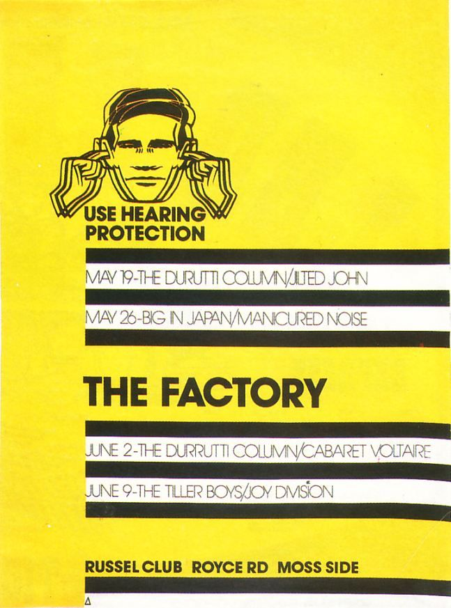 Factory Records gave everything a catalogue number.  FAC 1 was poster for the first Factory Records gigs.