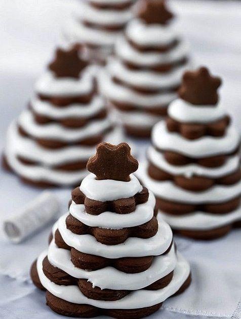 #Sobremesas divertidas e criativas no natal: está aqui é com bolachinhas em formato de estrela e marshmallow. #ficaadica #DIY #Natal