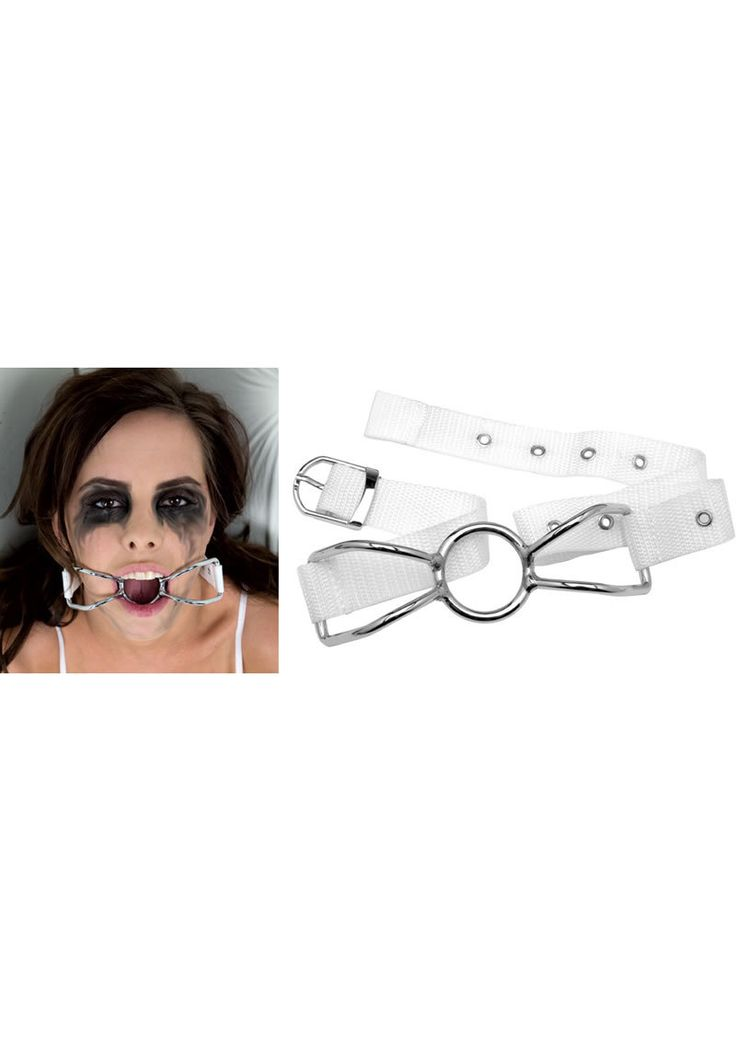 Buy Asylum Patient Mouth Restrant With Metal Bit White online cheap. SALE! $13.99