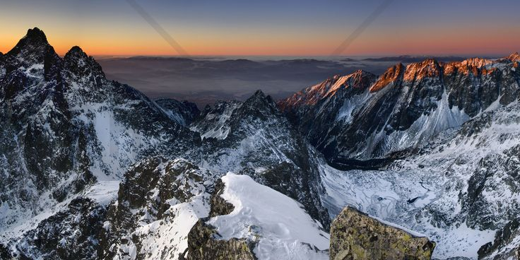 Sun Rise in High Tatras - Fototapeter & Tapeter - Photowall