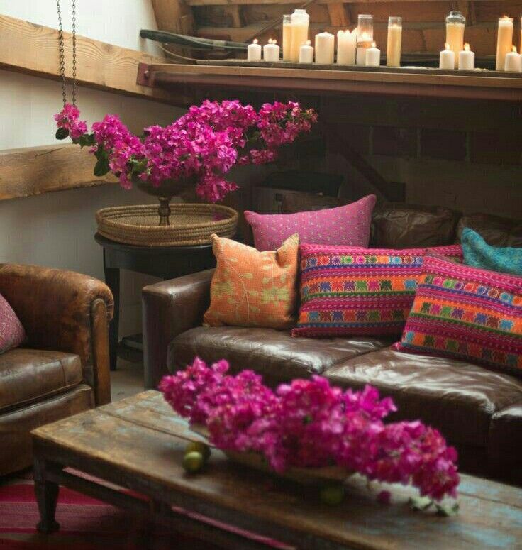 rustic Mexican living room decor