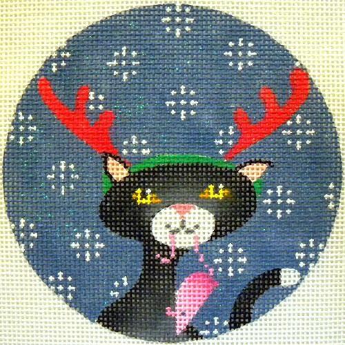 Black Cat Xmas Circle