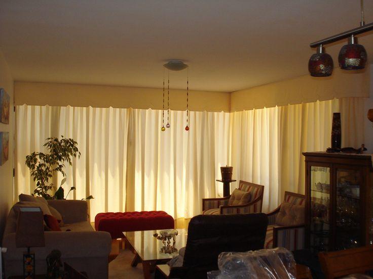 cortinaje tradicional con cenefa