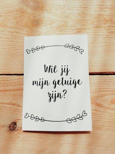 Getuige vragen bonjourtoyou trouwen pinterest