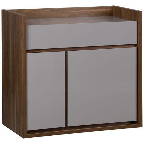 Комод 2-дверный- Большой объемный комод для хранения многих вещей- внутри устойчивая к нагрузкам полка- благодаря направляющим Quadro верхний ящик открывается тихо и легко- столешница и фасады ...