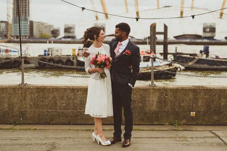 London City | Tropical Trinity Buoy Wharf Wedding | Sri Lankan Themed Stationery & Decor | Botanical Leaves & Pineapple Centrepieces | Ted Baker Bridal Separates | Royal Blue Ted Baker Bridesmaid Dress | Matt Penberthy Photography | Peony Flowers