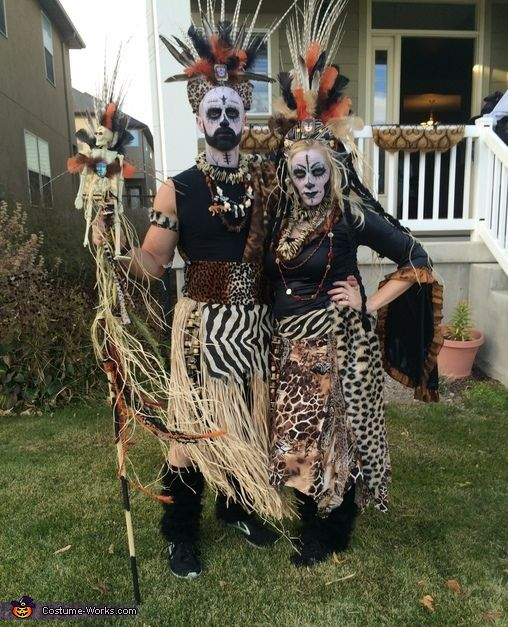 Karen: Witch doctor couple. This costume is homemade by me. I got the inspiration from the bead show when I saw some funky beads I couldn't wait to put it together!...