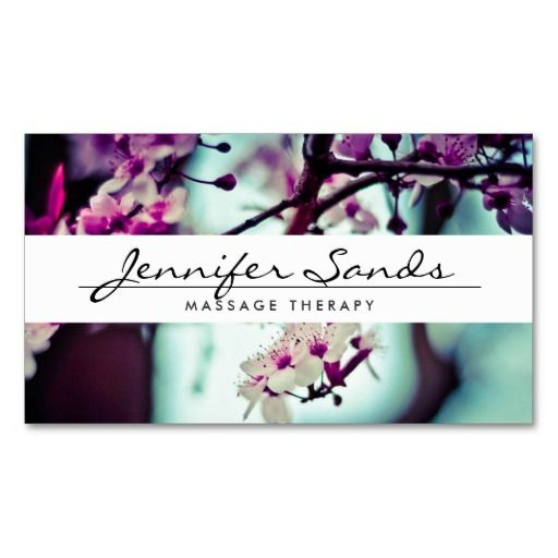 ELEGANT NAME with CHERRY BLOSSOMS Business Card: An elegant type treatment for your name or business name overlaid on top of a photo of cherry blossoms. Contact the designer if you need special type-setting for longer names or different layouts. Design © 1201AM CREATIVE #businesscards #cherryblossoms #top50onzazzle
