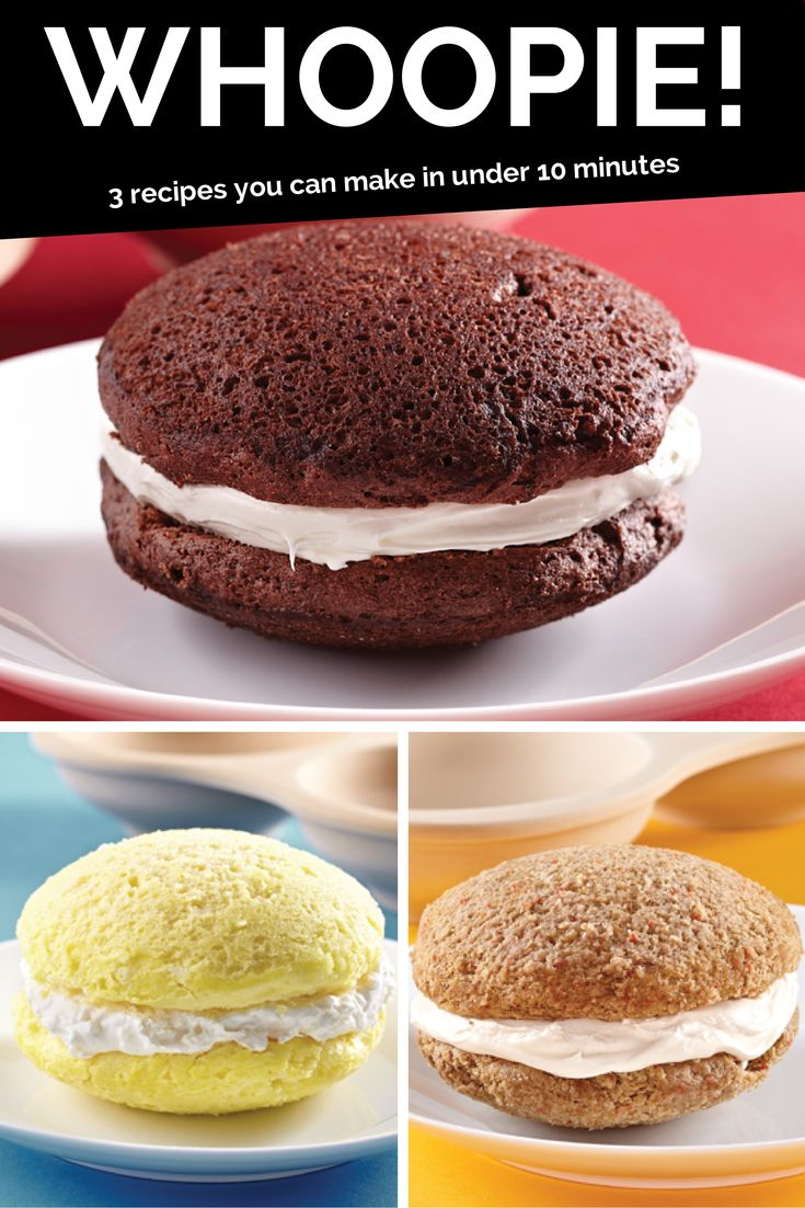 Whoopie! 3 sweet recipes you can make in under 10 minutes (in your microwave).