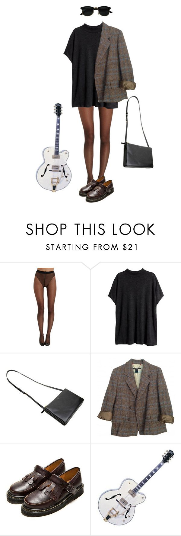 """""""Untitled #132"""" by borninthe1990s ❤ liked on Polyvore featuring Wolford, H&M and Marc by Marc Jacobs"""
