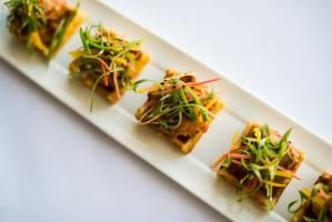 Caterers are refreshing some of their most popular passed bites for 2014 with new flavors and presentations..