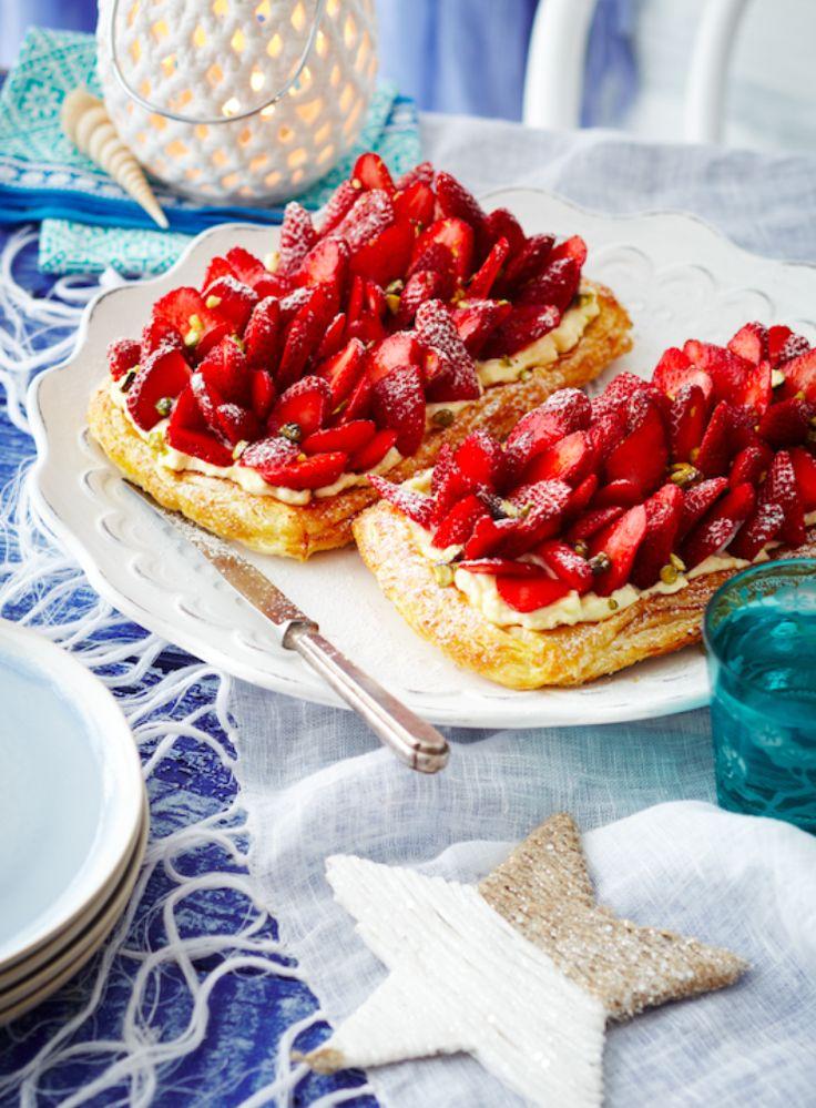 Free-Form Fresh Strawberry Tarts