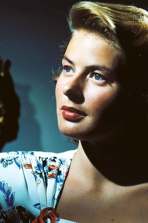 Ingrid Bergman (1915 - 83) award winning Swedish actress. She won three Academy Awards, two Emmy Awards, four Golden Globe Awards and the Tony Award for Best Actress. She is ranked as the fourth greatest female star of American cinema of all time by the American Film Institute. She is best remembered for her role as Ilsa Lund in Casablanca (1942).