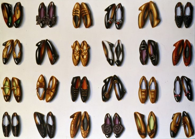 Shoes (six rows) Lisa Milroy