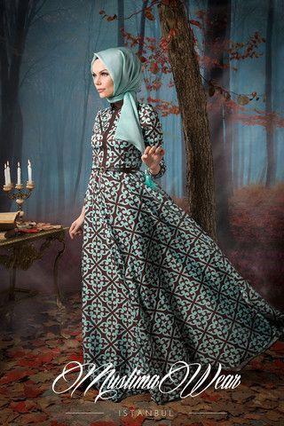 Beautiful Mint & Choco Dress | Muslima Wear Design and Styling