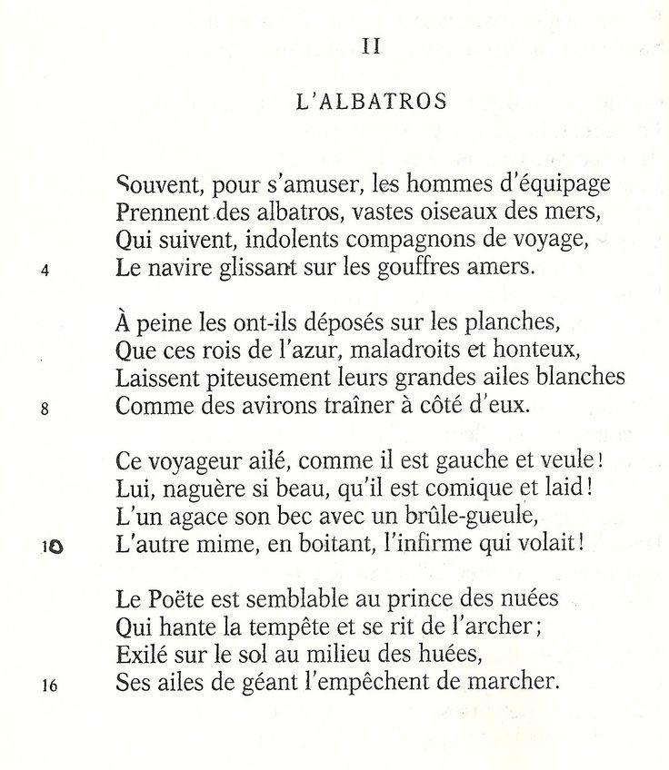 L Albatros Charles Baudelaire Poems Poetry Famous Baudelaire