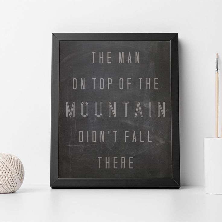 Vince Lombardi the Man on Top of the Mountain Quote Inspirational Motivational Typography Poster Print Home Decor