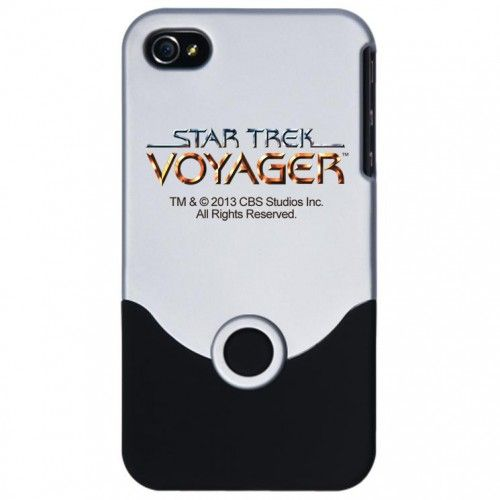 """Star Trek Voyager iPhone 4 Silver Slider Case 